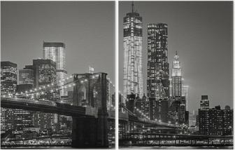 New York City by night Diptych