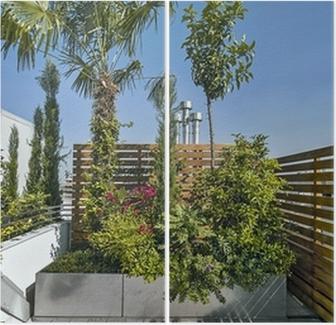 piante sul terrazzo moderno Wall Mural • Pixers® • We live to change