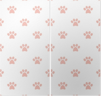 Pink Cats Paws Trace Seamless Pattern Wallpaper O PixersR We Live To Change