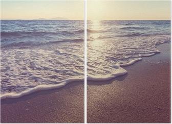 Sea sunset Diptych