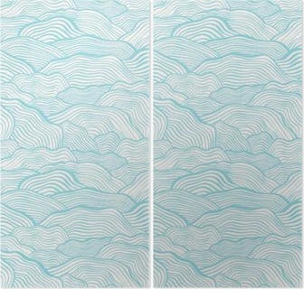 Seamless pattern with wavy scale texture Diptych