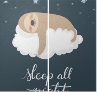Sleeping sloth poster Diptych
