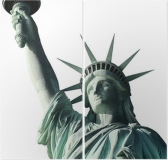 Statue Of Liberty Top Half Portrait Isolated Wall Mural Pixers