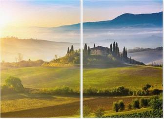 Tuscany at sunrise Diptych