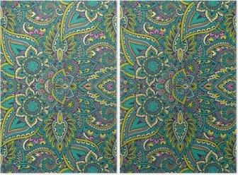 Henna Mehndi Vector : Vector seamless pattern with henna mehndi floral elements. wall