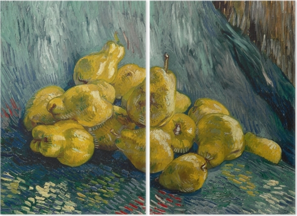 Vincent van Gogh - Still life with quinces Diptych - Reproductions