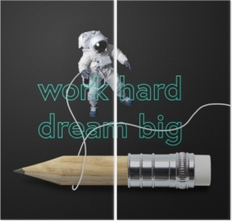 Work hard dream big Diptych