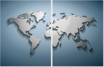World map embossed wall mural pixers we live to change world map embossed diptych gumiabroncs Gallery