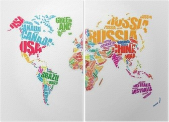 World map in typography word cloud concept names of countries world map in typography word cloud concept names of countries canvas print pixers we live to change gumiabroncs Choice Image