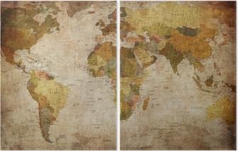 World Map Diptych