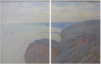 Diptychon Claude Monet - Klippen von Dieppe