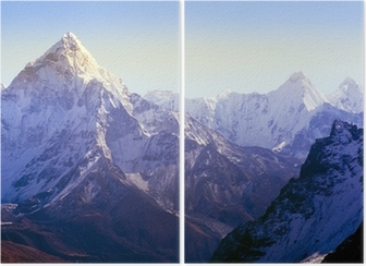 Diptychon Himalaya-Gebirge
