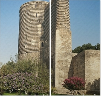 Leinwandbild Jungfrauen Turm In Baku Aserbaidschan Pixers Wir Leben Um Zu Verandern