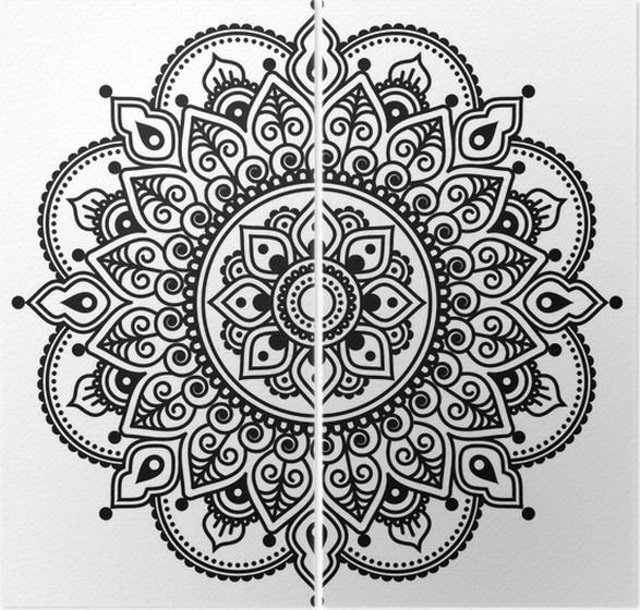 diptychon mehndi indian henna tattoo muster oder hintergrund - Henna Tattoo Muster