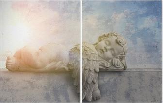 Diptychon Schlafender Engel im Sonnenschein