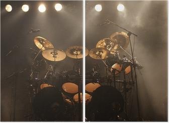 Diptychon Schlagzeug auf der Bühne