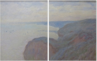 Diptych Claude Monet - Steef Cliffs nær Dieppe