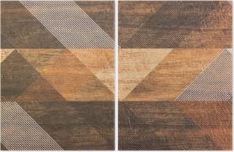 Diptych Fliser med geometriske former