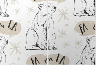 b7dab6c6 ... hvit isbjørn, snøfnugg og caroling isolert på hvit background.pattern  for stoff og innpakning paper.hipster mønster • Pixers® - Vi lever for  forandring