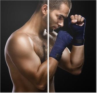 009d0ef5 Pixerstick-klistremerke Muay thai bokser mann • Pixers® - Vi lever for  forandring
