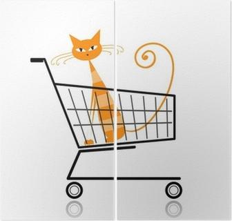 4ec6f9e9a Søt katt i handlekurven for ditt design