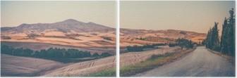 Diptych Vintage toskansk landskap