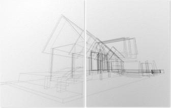 Triptych Rucni Kresba Domu Pixers Zijeme Pro Zmenu
