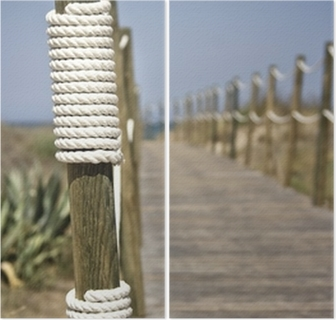 Kanon Poster Board-walk rep staket på stranden • Pixers® - Vi lever för IG-36