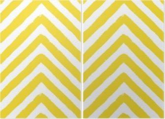 Diptyk Vektor chevron gul sömlösa mönster