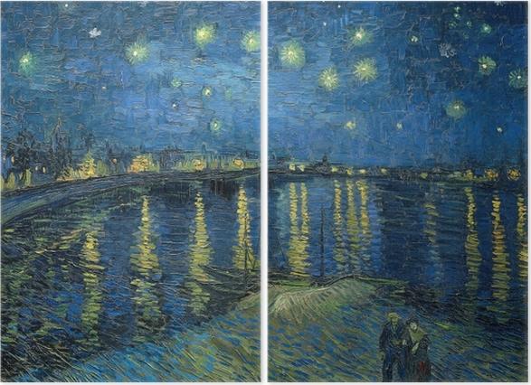Diptyk Vincent van Gogh - Stjärnenatt över Rhône - Reproductions