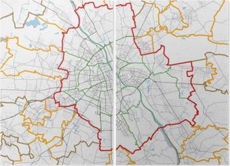 Kort Over Warszawa By Veje Plakat Pixers Vi Lever For