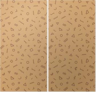 2397ed8270b Memphis sømløse mønster brun farve Pixerstick klistermærke • Pixers® - Vi  lever for forandringer