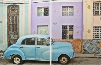 Diptyque Cuba, La Habana, décomposées Voiture d'époque