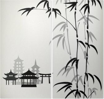 Diptyque Encre bambou peints