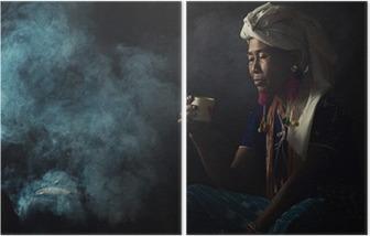 Diptyque Les femmes tribales sont Sentir senteurs du café aromatique. Elle se planta