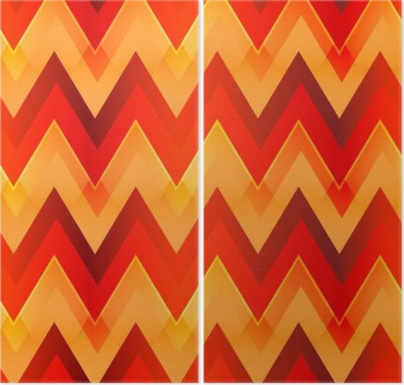 Diptyque Modèle sans couture de couleur chaude zigzag • Pixers ...