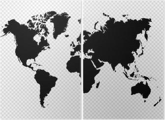 Diptyque Noir isolé carte fichier vectoriel EPS10 mondiale.