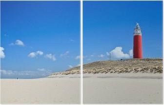 Diptyque Phare dans les dunes de la plage
