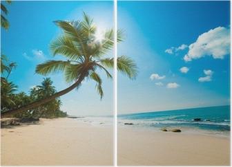Diptyque Plage tropicale au soleil