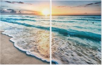 Dittico Alba sulla spiaggia di Cancun