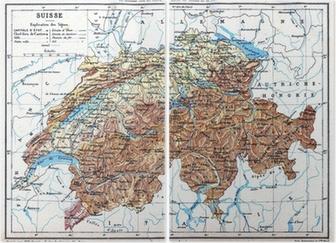 Cartina Della Svizzera.La Mappa Della Svizzera