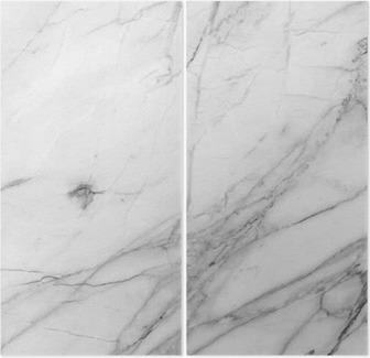 Dittico Sfondo bianco struttura della parete di marmo