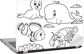 Boyama Kitabı çeşitli Deniz Hayvanları 3 Duvar Resmi Pixers