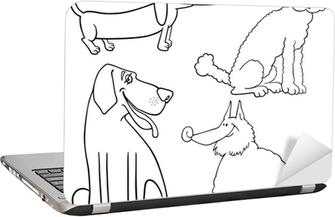 Karikatür Köpekler Ya Da Puppies Boyama Sayfa Poster Pixers