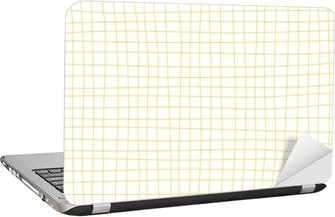 Dizüstü Bilgisayar Çıkartması Sarı hardal ızgara beyaz arka plan en az vektör çizim