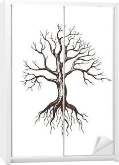 Büyük Yapraksız Ağaç Duvar Resmi Pixers Haydi Dünyanızı
