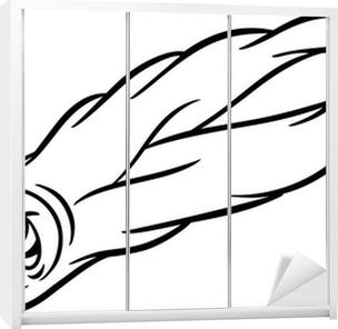 Karikatür Kuyrukluyıldız Boyama Duvar Resmi Pixers Haydi