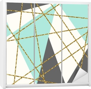 Dolap Çıkartması Özet Geometrik Kompozisyon