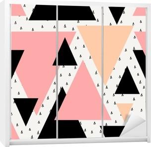 Dolap Çıkartması Soyut geometrik seamless pattern