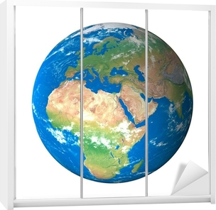 Uzaydan Dunya Modeli Avrupa Gorunum Poster Pixers Haydi